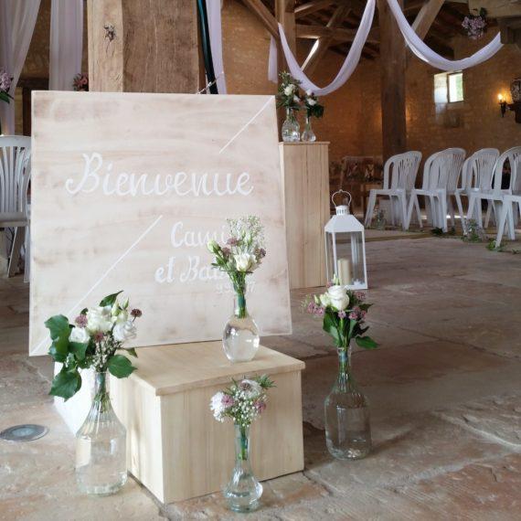 panneau-bienvenue-caligraphie-alamain-mariage-en-douceur-weddingplanner-poitiers-limoges-touraine